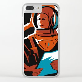 Battle Beyond The Sun, 1959 (Recreated Vintage Soviet Movie Poster) Clear iPhone Case