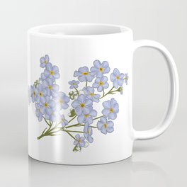 Little Blue Flowers Illustration / Forget Me Nots Coffee Mug