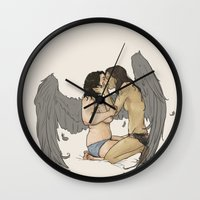sassy Wall Clocks featuring sassy nudies by Cesca Summers