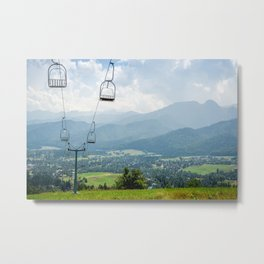 Mountain Cableway Metal Print