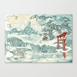 SlumberBean Snow Creatures Canvas Print