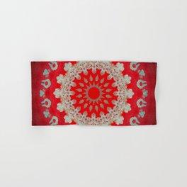 Bright Red Mandala Hand & Bath Towel