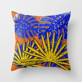 Rumble in the Jungle Throw Pillow