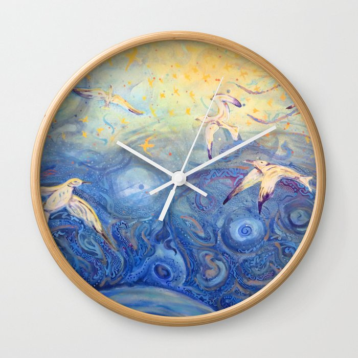 Seagulls Wall Clock By Robinsathoff Society6