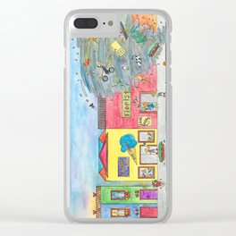 Happy Town V Clear iPhone Case