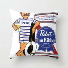 Take A Dip With PBR Throw Pillow