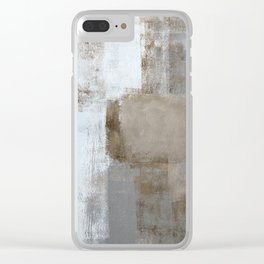 Calm and Neutral Clear iPhone Case