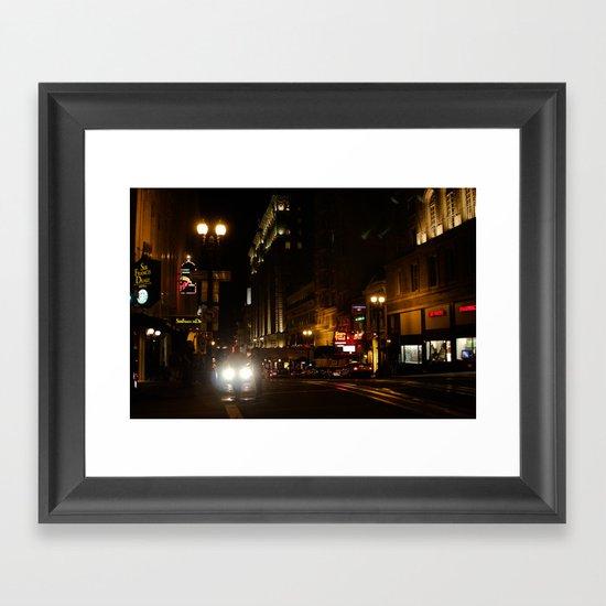 Down Town San Fran Framed Art Print
