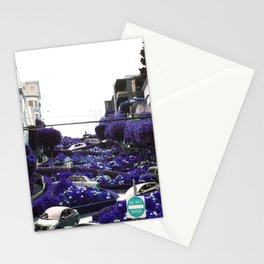 Lombard Street blue Stationery Cards