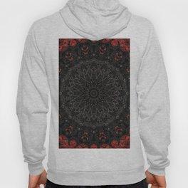 Red and Black Bohemian Mandala Design Hoody