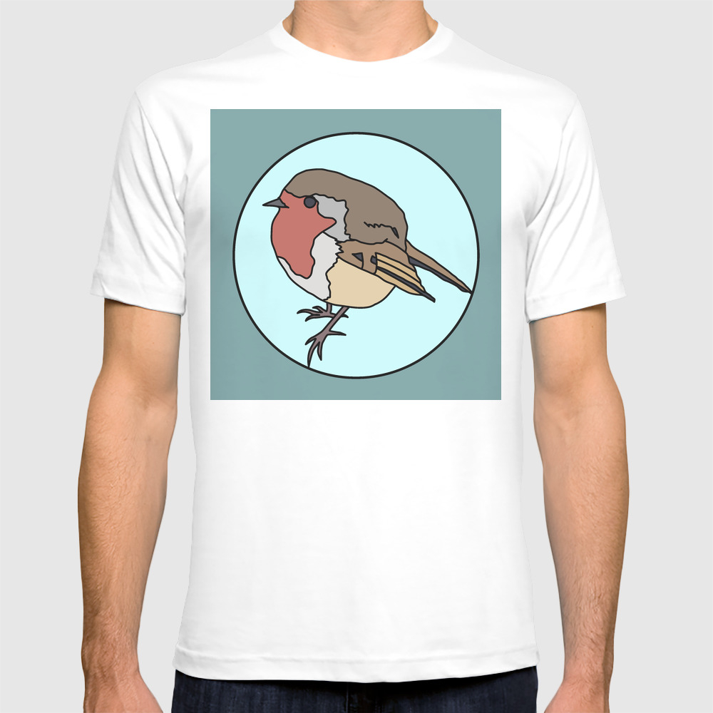 Robin - Robin Redbreast T-shirt by Mothpathtags (TSR8909815) photo