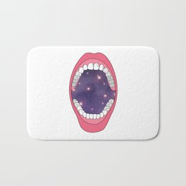 Universe in the mouth Bath Mat