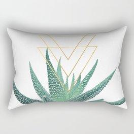Succulent geometric Rectangular Pillow