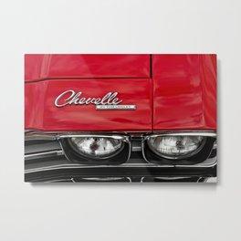 1969 Red Chevrolet Chevelle Car Metal Print