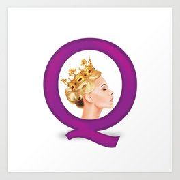 Q is for Queen Art Print