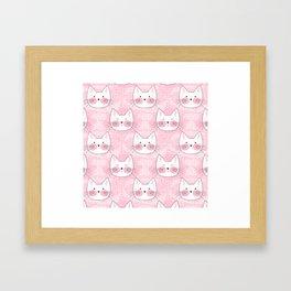 Little Girls Birthday Kitty Cats Framed Art Print