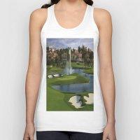 golf Tank Tops featuring GOLF COURSE by aztosaha
