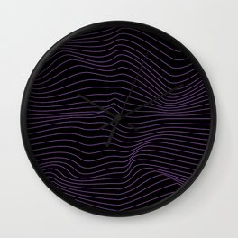 lines in the dark Wall Clock