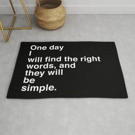 "Jack Kerouac Quote from ""On The Road"": They Will Be Simple Rug"