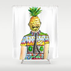 Mr. Pineapple Shower Curtain