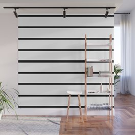Simple Black and White Lines Decor Wall Mural
