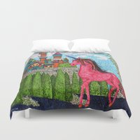 once upon a  time Duvet Covers featuring Once Upon a Time  by MargaretNewcombArt