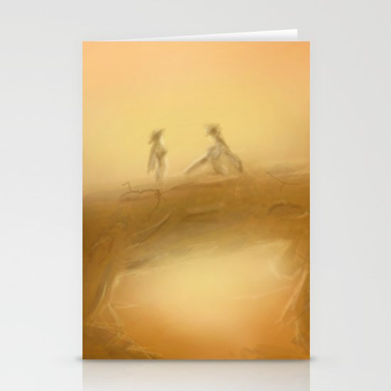 duel at dusk Stationery Cards