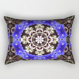 Blue and white floral mandala - Evolvulus and Diamond frost flowers 1 Rectangular Pillow