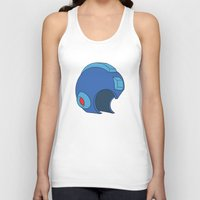mega man Tank Tops featuring Unmasked Mega Man by Rocom