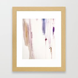 Sugar and Spice [2]: a minimal, pretty abstract piece in pinks, purple, mauve, and tan Framed Art Print