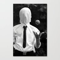 magritte Canvas Prints featuring Magritte by George Riley
