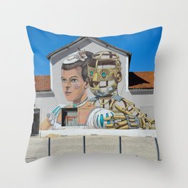 Street Art Lisbon Throw Pillow