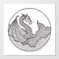 skyrim Canvas Prints featuring Skyrim by Line Mathisen