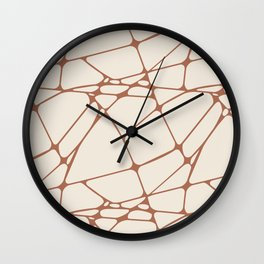 Cavern Clay SW 7701 Abstract Mosaic Pattern 1 on Creamy Off White SW7012 Wall Clock