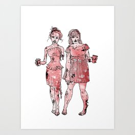 Zombie Bridesmaids Art Print