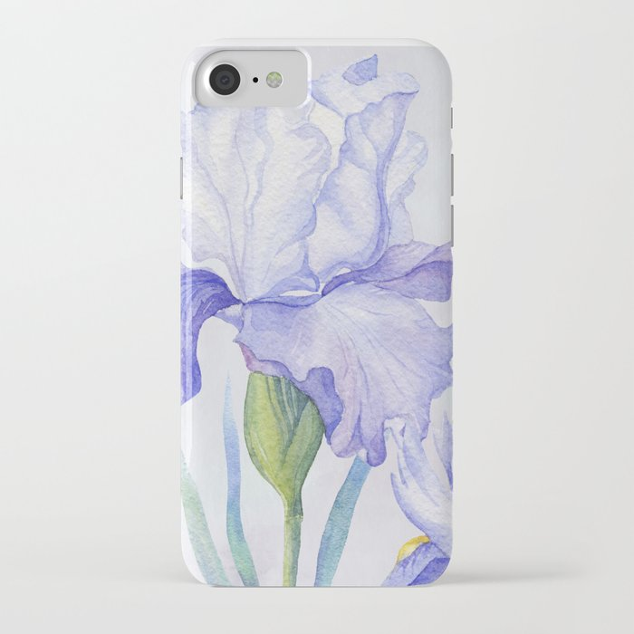Watercolor Iris iPhone Case