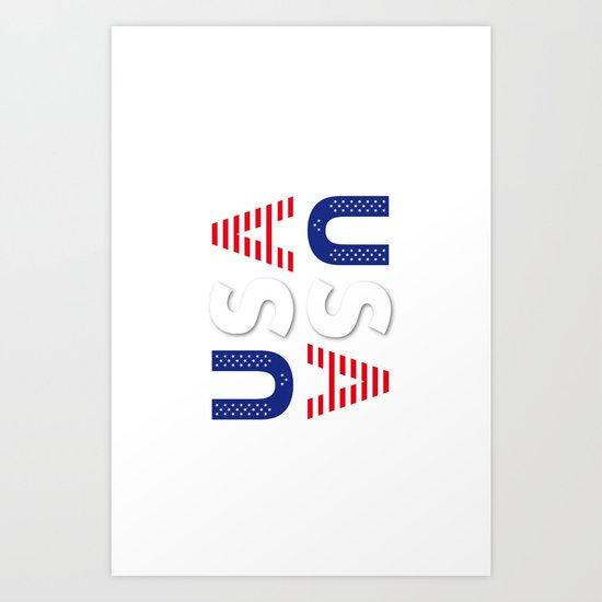 USA United States of America Art Print