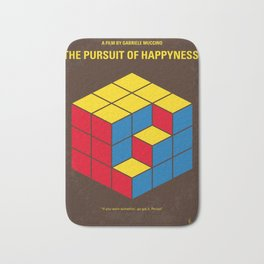 No775 My The Pursuit of Happyness minimal movie poster Bath Mat