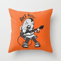 cassia beck Throw Pillows featuring Beck: Ryusuke's T-shirt Concept by KeithKarloff