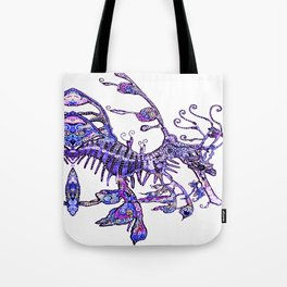 Leafy Seadragon II original illustration by Sheridon Rayment. Tote Bag