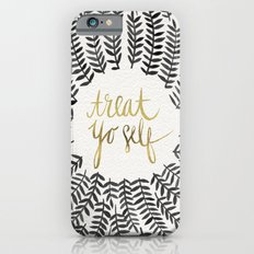 Treat Yo Self – Black & Gold iPhone 6 Slim Case