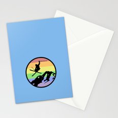 skiing 2 Stationery Cards