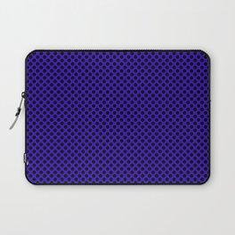 Blue Gem and Black Polka Dots Laptop Sleeve