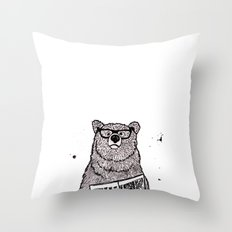 Smarter than the average... Throw Pillow