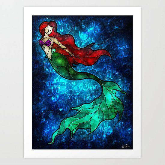 The Mermaids Song Art Print