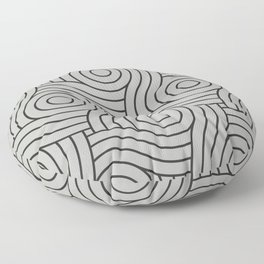 Circle Swirl Pattern Gray, Inspired by Benjamin Moore Metropolitan Gray AF-690 Floor Pillow
