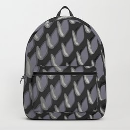 Just Grate Abstract Pattern With Heather Background Backpack