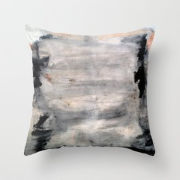 The One Day Abstract (oil on canvas) Throw Pillow