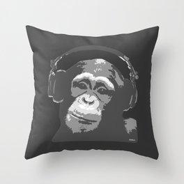 DJ MONKEY Throw Pillow