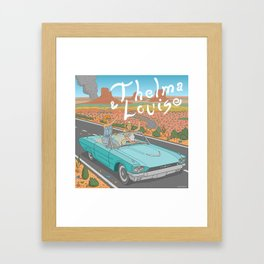 Thelma And Louise Framed Art Print
